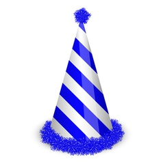 Blue birthday cap vector