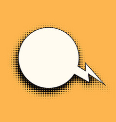Comic bubble halftones vector