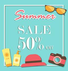 Summer sale template banner illurstrator design vector