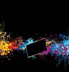 rainbow banner vector image