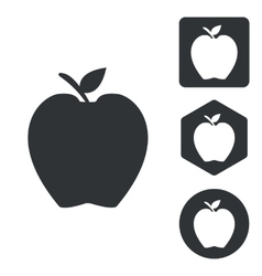 Apple icon set monochrome vector