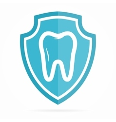 Logo combination of shield and tooth vector