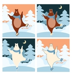 Bear on the ice vector