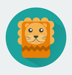 Lion baby animal icon vector