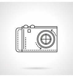 Digital camera icon flat line icon vector