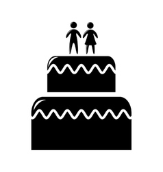 Wedding cake isolated icon design vector