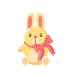 Toy yellow bunny vector