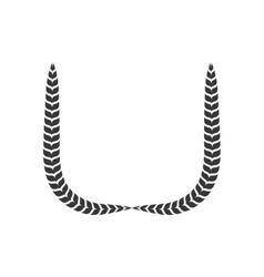 Wreath icon rustic design graphic vector