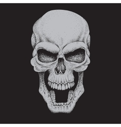Angry skulldotwork style vector