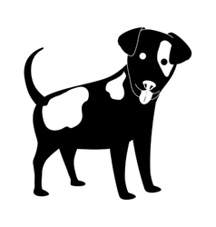 dog face icon vector image vector image