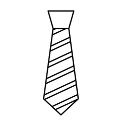 elegant tie isolated icon vector image vector image