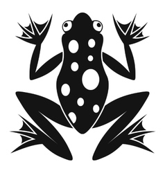 Frog icon simple style vector