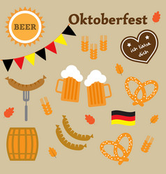 Germany oktoberfest elements vector