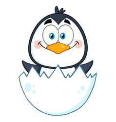 happy baby penguin cartoon character vector image vector image