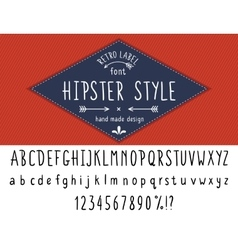 Hipster style font vector image