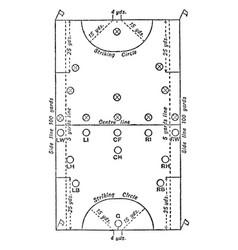 Hockey field vintage vector