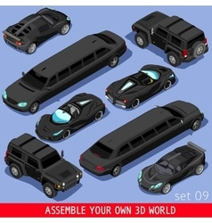 Limousine 02 Vehicle Isometric vector image