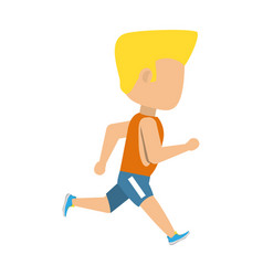 Man running cartoon vector
