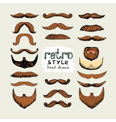 mustaches and beards vector image
