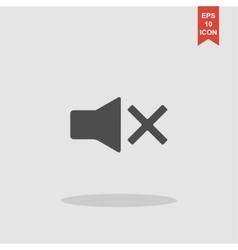 No sound vector image vector image