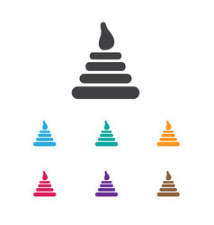 Of infant symbol on pyramid vector