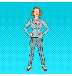Pop Art Confident Successful Business Woman vector image