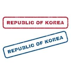 Republic of korea rubber stamps vector