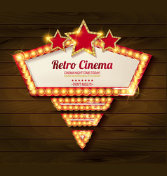 retro light frame vector image vector image