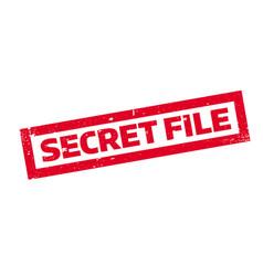 Secret file rubber stamp vector