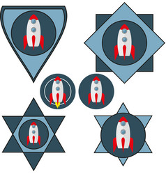 Set of chevrons with a spaceship vector