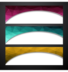 Set of colorful paper banners vector image vector image