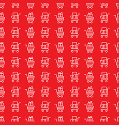 Store trolley seamless pattern vector
