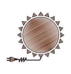 Sun energy icon image vector