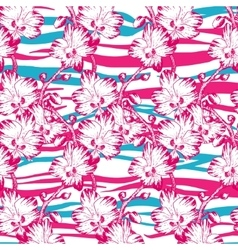 Tropical and flowers vector