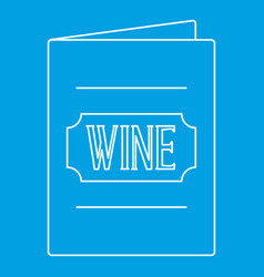 wine menu icon outline style vector image