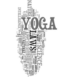Yoga for stress relief text word cloud concept vector