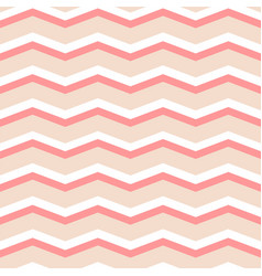 Zig zag chevron pink and white tile pattern vector