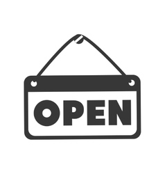 open sign store vector image