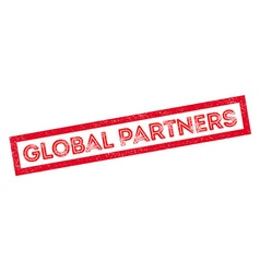 Global Partners rubber stamp vector image