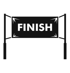 Finish line gates icon simple style vector image