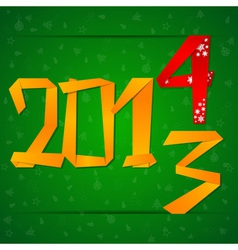 2014 New Year card with figures falling down vector image