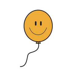 smile balloon decoration festive icon design vector image