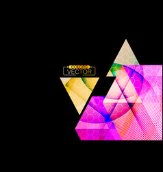 Triangle shape colors on a black vector
