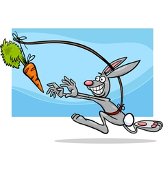 Dangling a carrot saying cartoon vector