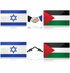 Israel and Palestine vector image