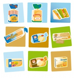 bread and crackers vector image