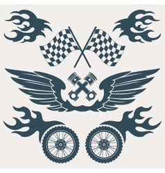 Motorcycle design elements vector image