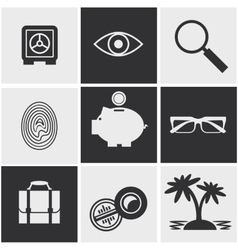 Money finance banking icons set vector