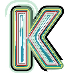 Abstract colorful letter k vector