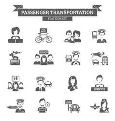 Passenger transportation icon vector